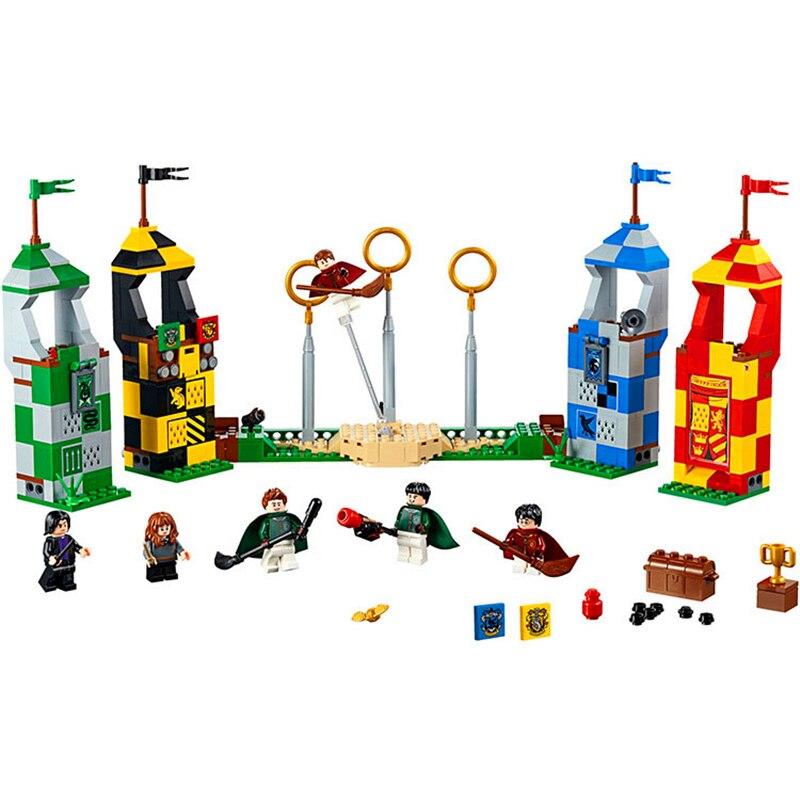BELA 11004 Harri Potter magia partido De Quidditch bloques de construcción de ladrillo Compatible legión técnica 75956 juguetes para los niños