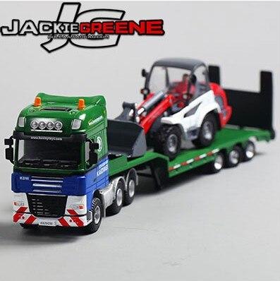 Новый продажа 1 шт. 1:50 27 см cadeve инженерно-Трейлер погрузчик планшетный грузовик-перевозчик Автомобиль Моделирование модели сплава автомоби... ...