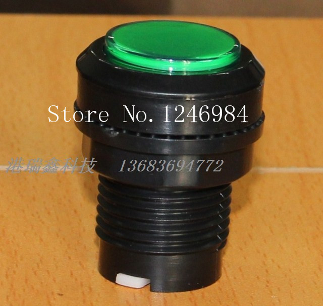 [SA]Video game consoles accessories small round button green button mainframe computer switch button--20pcs/lot