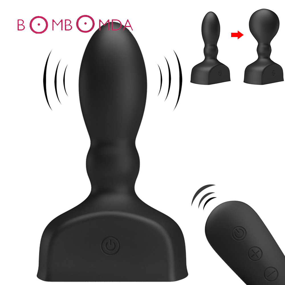 Anal Inflatable Vibrator For Men Masturbator 12 Speed Wireless Remote Control Anal Dildo Vibrator Adult Male Prostate MassagerAnal Inflatable Vibrator For Men Masturbator 12 Speed Wireless Remote Control Anal Dildo Vibrator Adult Male Prostate Massager