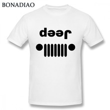 b45cf10f Jeep Car T Shirt Boy New Homme Tee Shirt Fashion New 100% Cotton Tees Nice