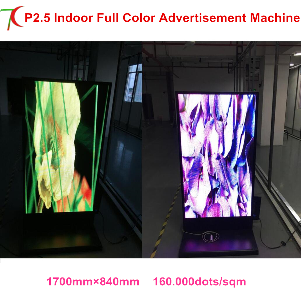 Super Slim Led Display Poster Customized Size Indoor Metal Display Advertising Led Full Color Advertisemet Display