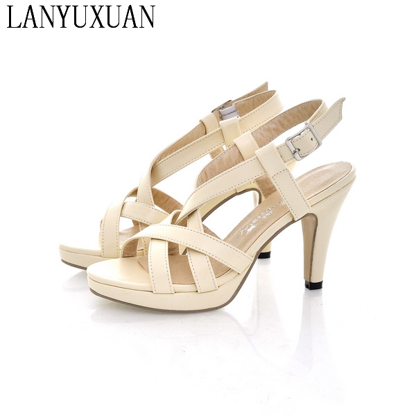 2017 neue Ankunft Limited Big Plus Größe 31 42 Schuhe Frauen Sandalen High Heels Sapato Feminino Sommer Stil Chaussure 61 1|sandals high heels|women sandals high heelssandals high - AliExpress