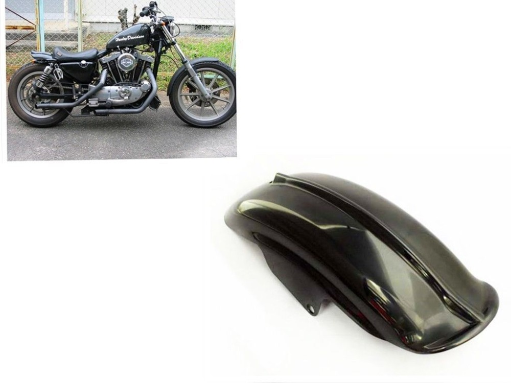 Black Solo Rear Fender Mud Guard Mudguard for  94-03 Harley Sportster XL 883 1200 Cafe Racer Bobber Chopper Cruiser Custom NEW 22 bobber cafe oldschool chopper