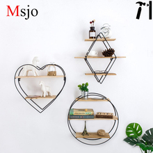 Msjo Storage Rack Plant Pot Shelf Storage Shelf Household Living Room Ornamento Decoración Jardín Geométrica Suculentas Titular de Almacenamiento