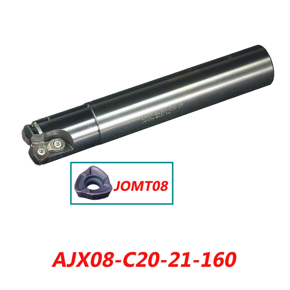 Free Shipping AJX08-C20-21-160 High Feedrate End Mill Cutter Suitable For Insert JOMT080320ZZSR