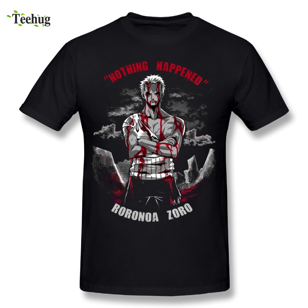 One Piece Man Roronoa Zoro T Shirt Awesome Streetwear Nothing Happen Homme Tee Shirt Stylish ...