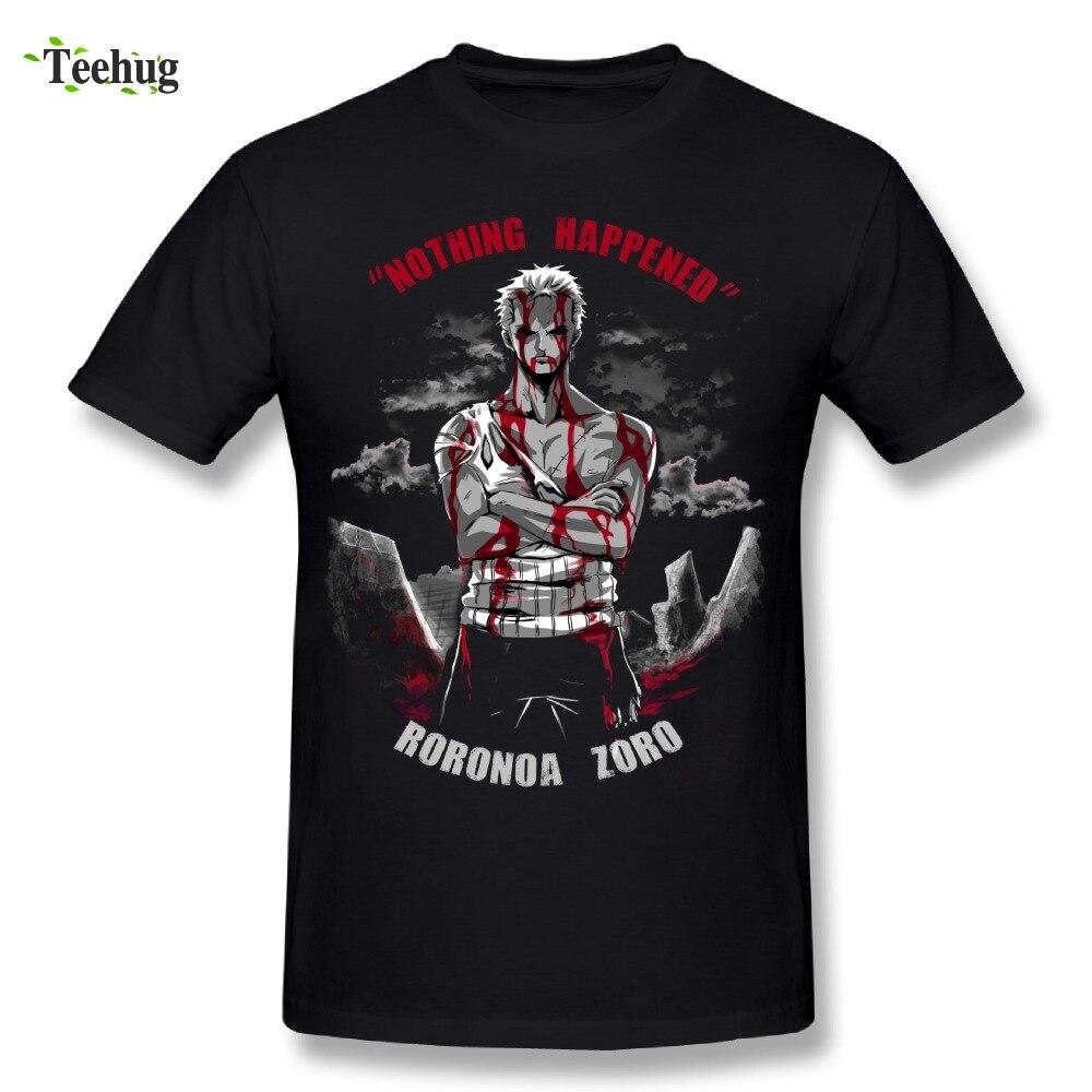 One Piece Man Roronoa Zoro   T     Shirt   Awesome Streetwear Nothing Happen Homme Tee   Shirt   Stylish Camiseta
