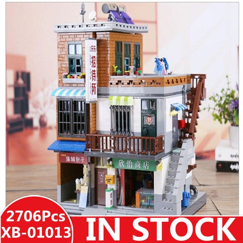 재고 있음 xingbao 01013 2706 pcs 정품 크리 에이 티브 moc 시티 시리즈 도시 마을 세트 빌딩 블록 벽돌 장난감 모델 선물-에서블록부터 완구 & 취미 의  그룹 1