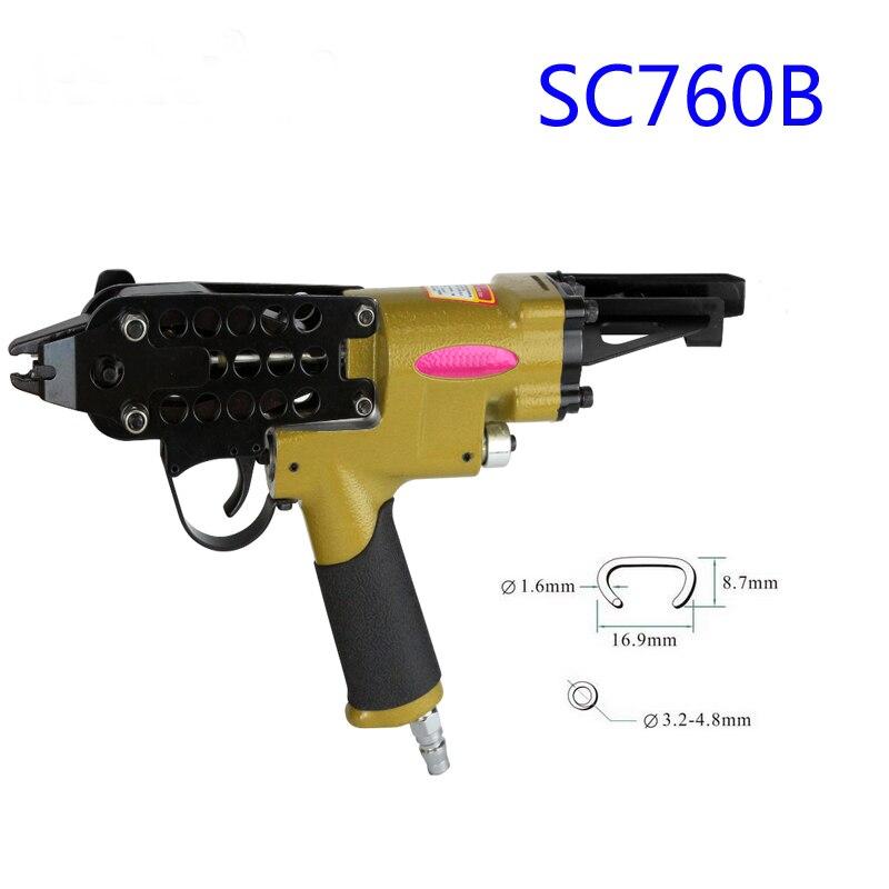 Alifix SC760B Pneumatic C Ring Gun Air Nail Gun Hog Ring Plier C Ring Naier Original