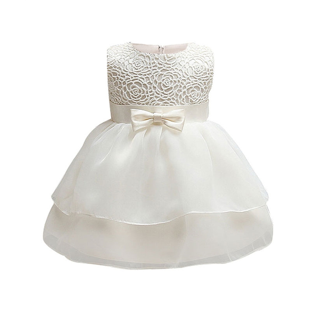 ee0dfe28c Baby Toddler Girl Baptism Clothes Girl Newborn Infant Lace ...