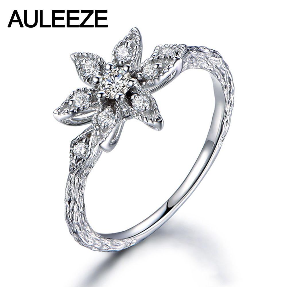 aliexpress : buy unique floral design real diamond ring