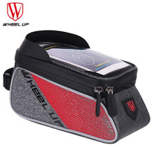 WHEEL UP Touch Screen Front Top Tube Bicycle Frame Saddle Bag Rainproof MTB Cycling 6 Inch Bike Cell Phone Case Accessories