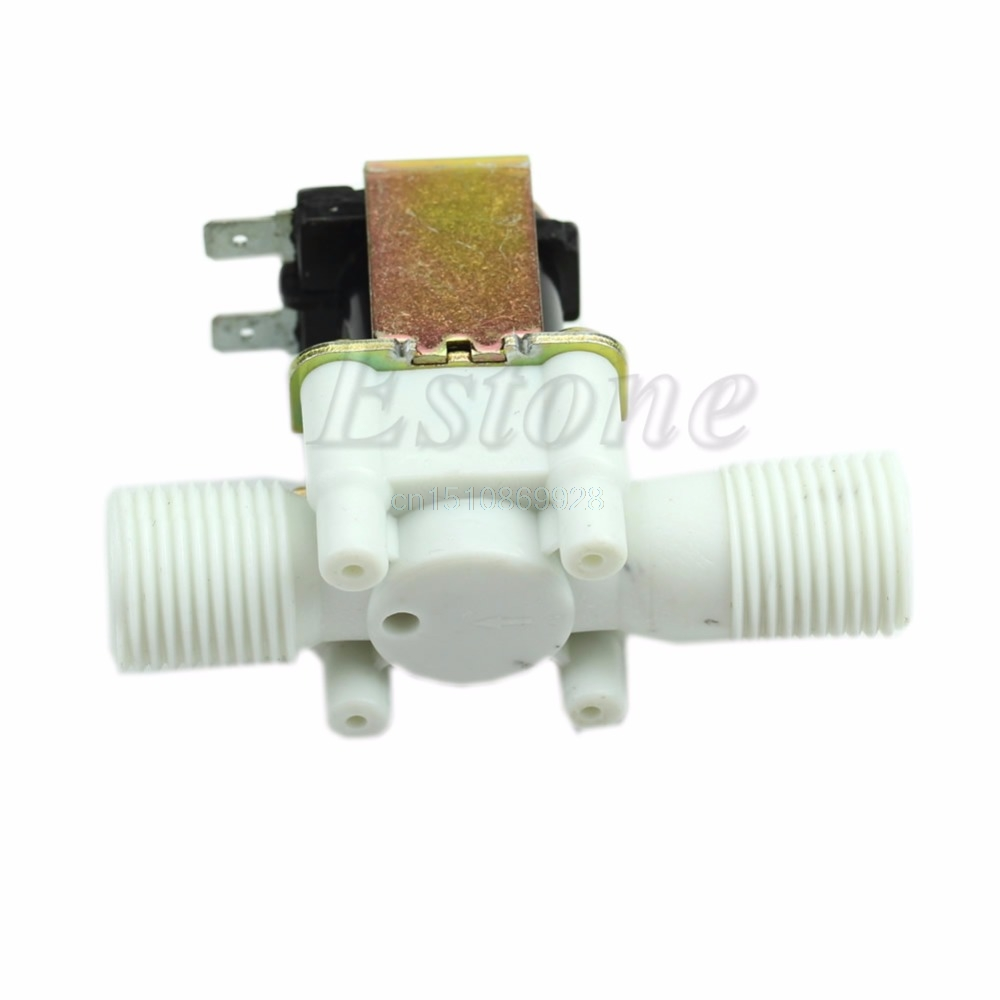 1pc New Electric Solenoid Valve Magnetic DC 12V N C Water Air Inlet Flow Switch 1 2 quot in Valve from Home Improvement