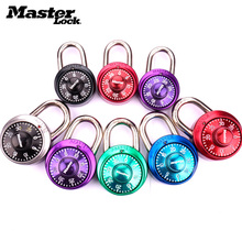 Master Lock Security Metal Lock Cabinet Luggage Padlock Combination Smart Password Lock Bag Suitcase Carousel Gym Locker locks rarelock 5 letters code combination password lock door box gym locks suitcase luggage bicycle locks a