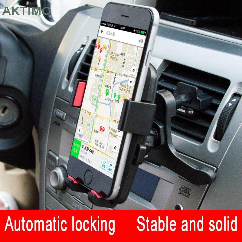 AKTIMO Car Holder Air Vent Mount Holder 360 Rotation Car Phone Holder Mobile Phone Stand For iPhone 5 6 6S 7 Samsung HUAWEI A5 mobile phone car vent holder