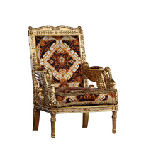 European-style Wood Carving full gilding Armchair French luxury villa imperial court of Queen furniture Lounge Chair