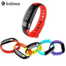 Kobwa Водонепроницаемый Bluetooth 4.0 Спорт монитор сердечного ритма крови Давление шагомер будильник Браслет Носимых устройств