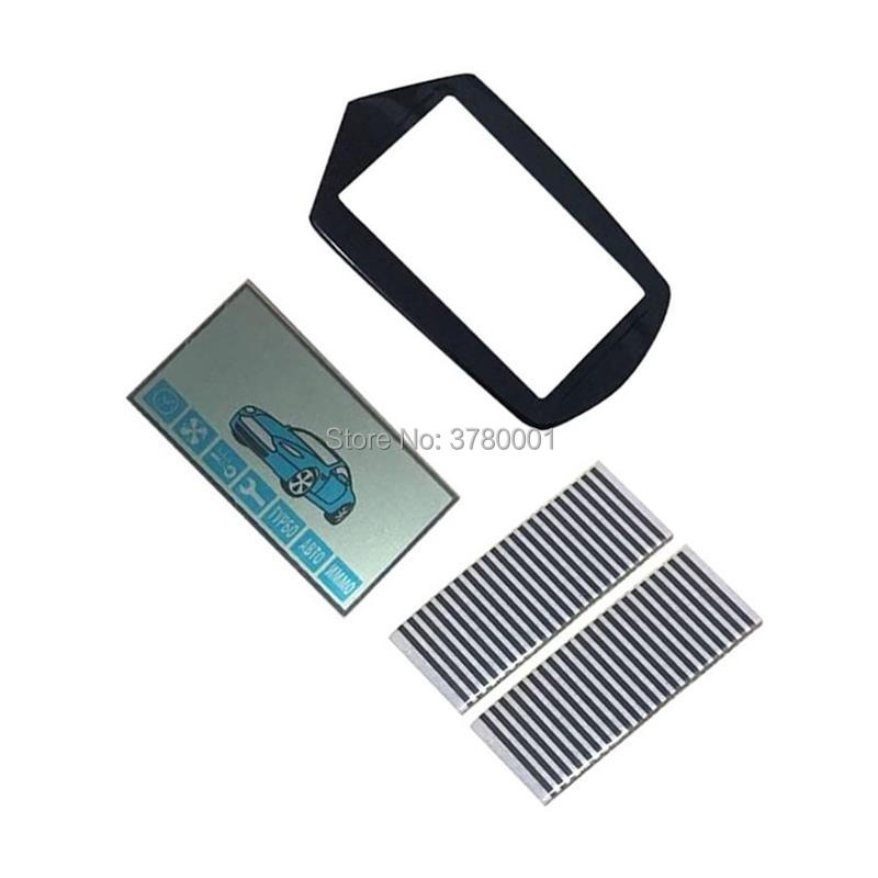Flexible Cable A91 LCD Display Screen + A91 Keychain Glass Cover For Starline A91 Lcd Remote Control With Zebra Stripes