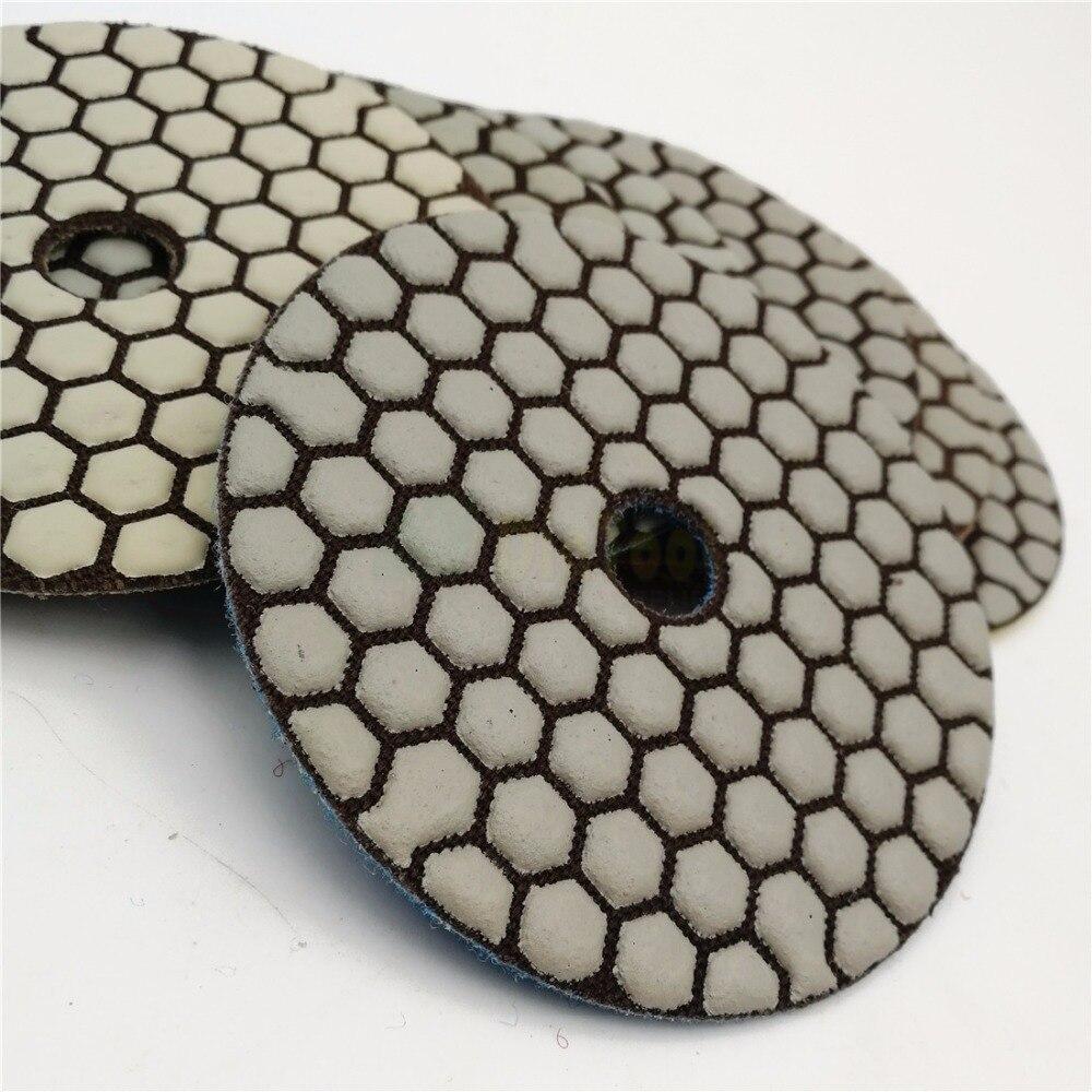 Image 4 - SHDIATOOL 7pcs 4inches #50 Dry Diamond Polishing Pads Diameter 100MM Resin Bond Diamond Flexible Polishing Padsdiamond polishing padsflexible polishing padspolishing pad -