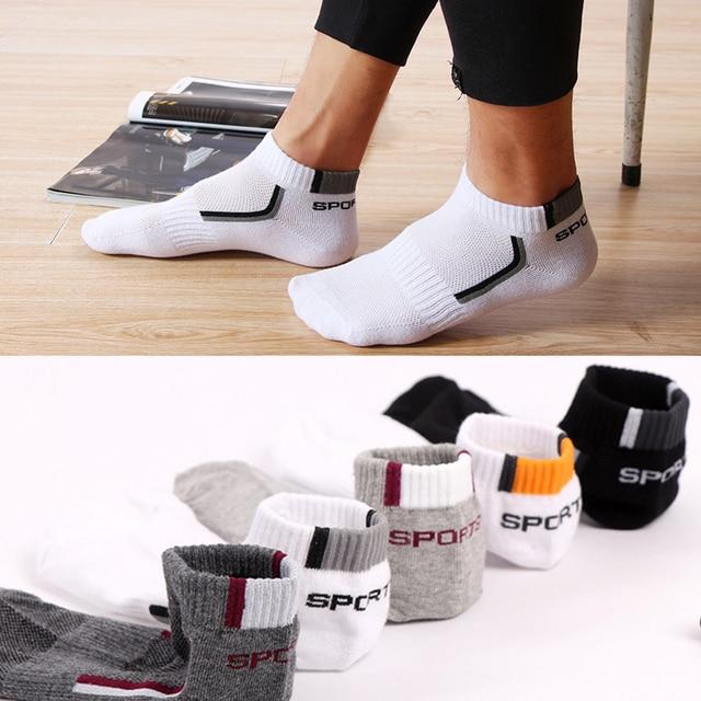HSS 5 pairs/lot High Quality Men Cotton Socks Summer Mesh Breathable Sock Classic Mountain Short Socks Thin Calcetines Hombre Socks