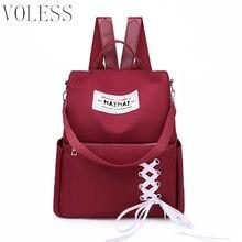 VOLESS Brand Anti-theft Oxford Backpack Female Designer School Bags For Teenager Girls Waterproof Travel Backpack Women Bagpack