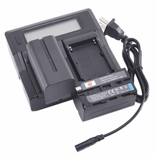 DSTE 2 шт. NP-F750 770 Батарея с ЖК-дисплей двойной Зарядное устройство USB Порты и разъёмы Зарядное устройство для SONY dcr-trv103 DCR-TRV220k CCD-TRV81 MVC-FD73 MVC-FD95