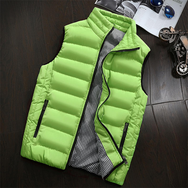 Vest Men 2019 Spring Autumn Male Sleeveless Jacket Coat Lovers Stylish Padded Down Vest Men Waistcoat Brand Cloths Plus Size 5XL 19