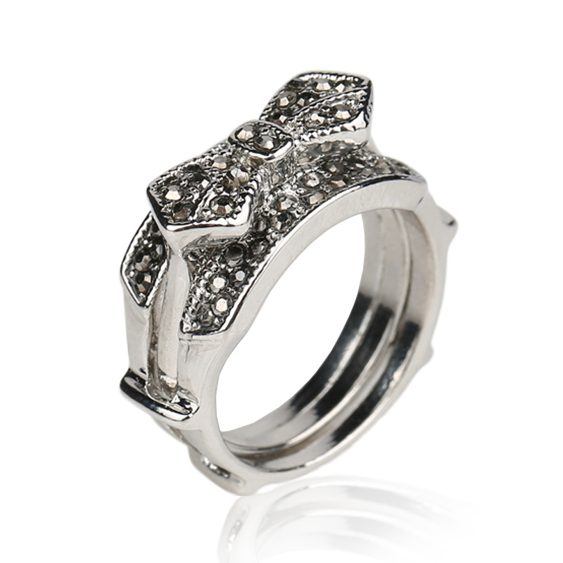 luxury wedding rings luxury black wedding ring tibet silver alloy 5628