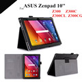 "Zenpad 10 Magnet Leather Case For ASUS Zenpad 10 Z300C Z300CL Z300CG 10.1"" Tablet Cover Case Z300 Tab Case +protectors"