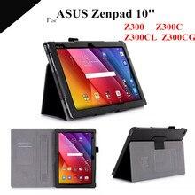 "Zenpad 10 Imán Funda de piel Para ASUS Zenpad 10 Z300C Z300CL Z300CG 10.1 ""Z301MFL Z301ML Tablet con ranura para tarjeta + protectores"
