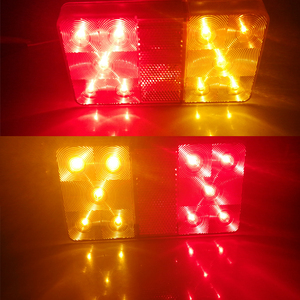 Image 5 - 2 stücke AOHEWEI 10 LEDs 12 v führte Anhänger licht Rücklicht rücklicht Bremse Stop Richtung Anzeige Position led licht anhänger