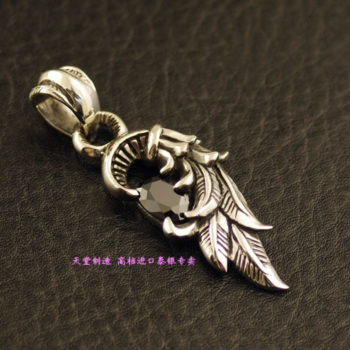 925 Sterling Silver Zircon Pendant Silver Angel Wings купить в Москве 2019