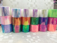 1 Roll 100 M * 5 CM Holografische Folie Papier Gebroken Glas Nail Transfer Folies Nail Art Wraps Franse Manicure 21 Candy Kleuren Stickers