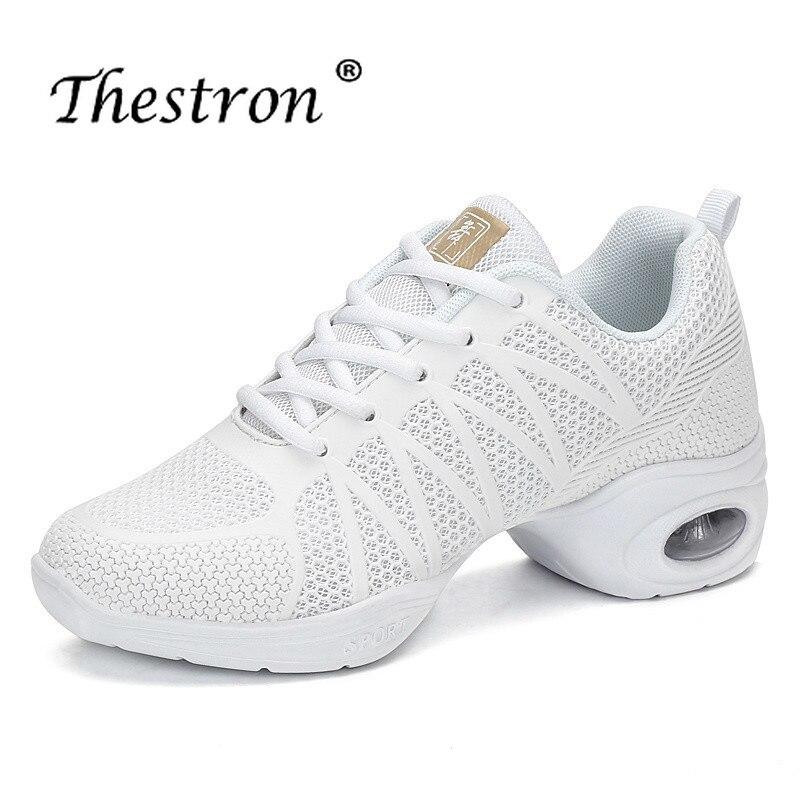2019 Ballroom Dance Shoes Soft Ballet Shoes Latin Dance ShoesMesh Breathable Dance Training  Lace-Up  Dancing Shoes for Women