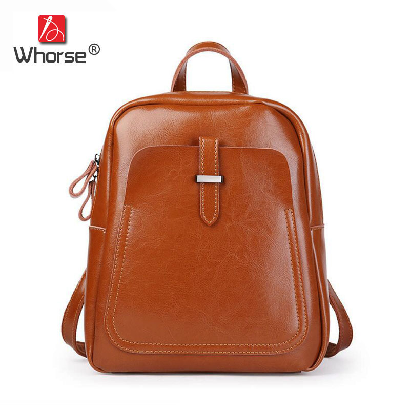 Brand Vintage Style Genuine Leather Backpacks Designer Womens Cowhide Back Pack Backpack Travel Bag For Women W0948