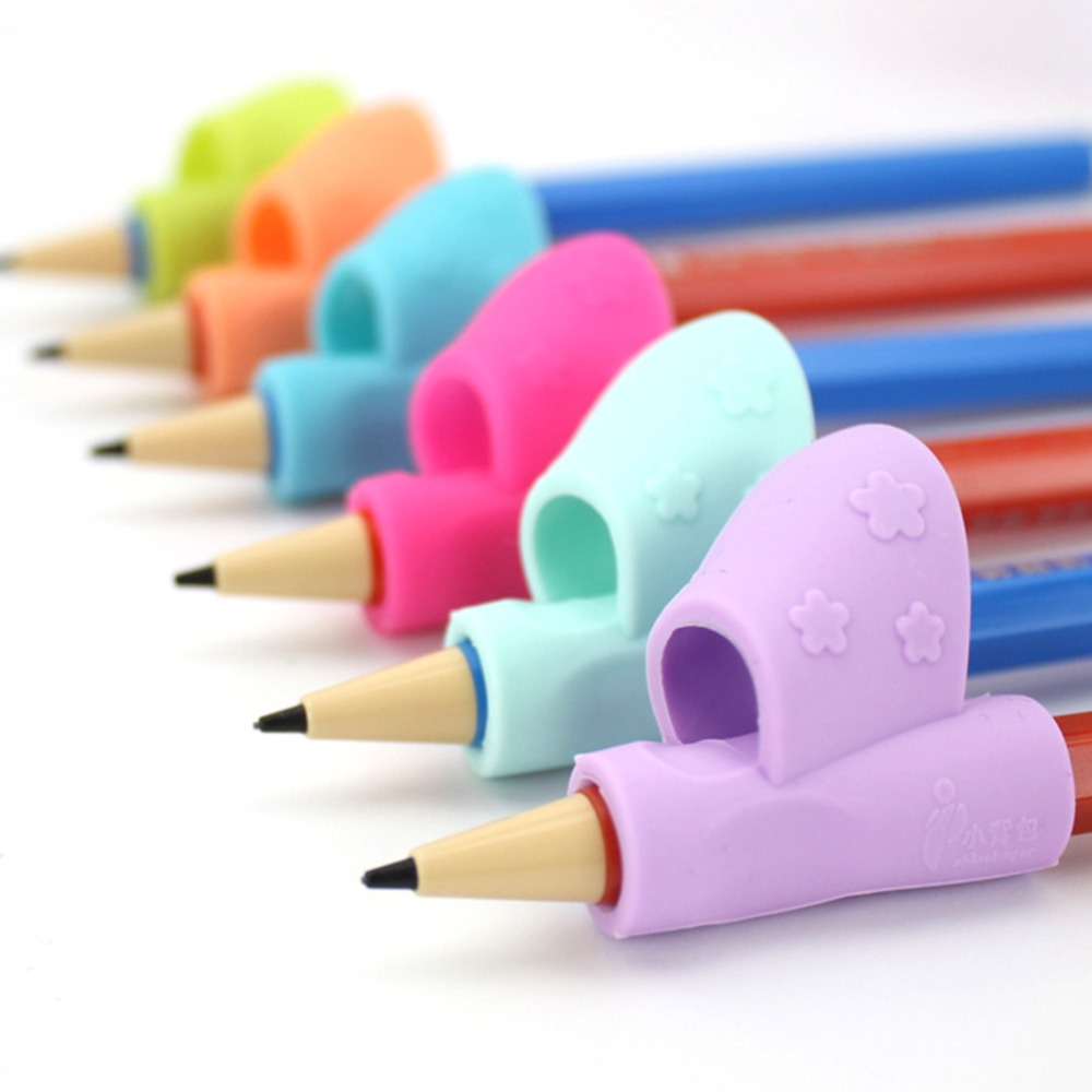 3Pc/10Pcs Children Pencil Holder Writing Corrector Kids Silicone Pen Writing Aid Grip Posture Correction Device Tool For Student