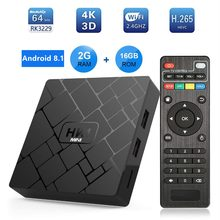 Transpeed Android 8.1 Smart TV Box RK3229 2G DDR3 16G EMMC ROM Set Top Box 4 K 3D h.265 Wifi Media Player TV Receiver Toko Bermain(China)