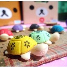 Прекрасный черепаха в форме карандашный ластик для ребенка резиновый ластик уборка канцелярские товары подарок игрушка для малыша