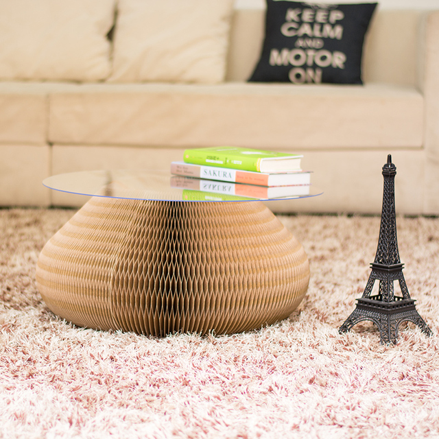 Living room coffee table folding stool creative European simple style Environmental protection paper furniture
