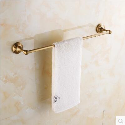 ФОТО Continental luxury antique 100% copper single towel bar towel hanging towel bar Continental bathroom accessories free shipping