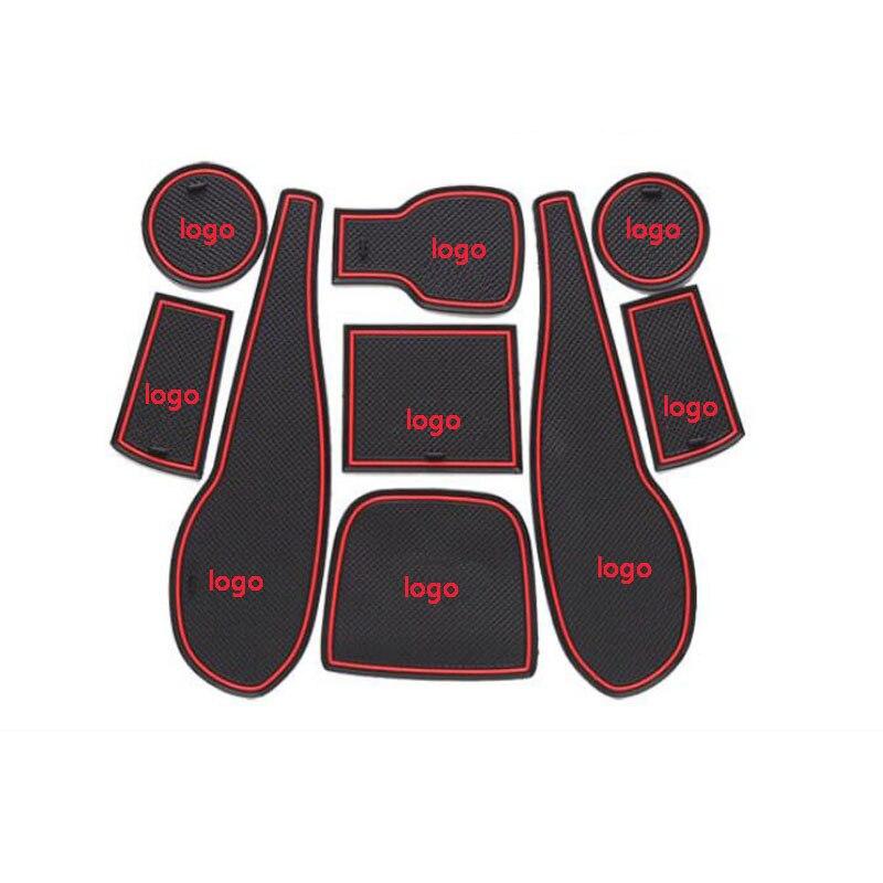 Dongzhen 9X Auto Auto Styling Rutschfeste Innentür Matte Pad Tasse matte pad tor slot kissen antirutschmatte für aveo sonic 2011-2013