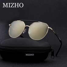 MIZHO Stainless Steel 19g Light Weight Protable Metal Mens Sunglasses Unisex Polarized Traveling UV400 Eyeglasses Ladies Driving