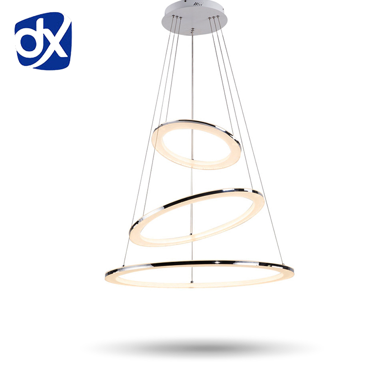 Modern Pendant Lights Fixture Acrylic Lampshade For Hanging Dining Room Lamparas Colgantes Suspension Luminaire hanglamp