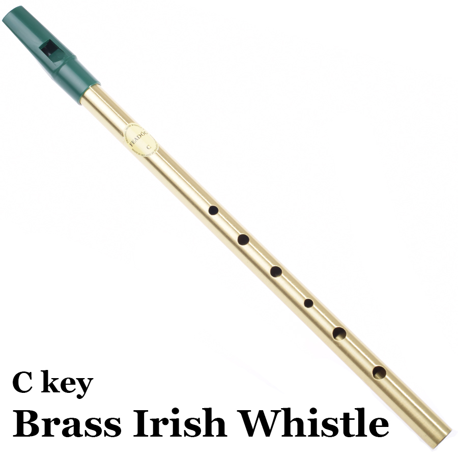 Irish Whistle Flute C key Brass Tin Whistle Piccolo Pennywhistle Feadog Wind Alat Muzik 6 Hole Feadon Metal Flauta Gift