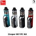 100% Original Yosta Livepor 60 Caixa Mod Kit 60 W TC VTC Controle de temperatura com 1500 mAh Bateria Vapor Mod cigarros eletrônicos Mods Corpo