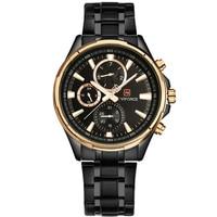 Homens de luxo da marca naviforce exército militar relógios homens de aço completo relógio hora de relógio de quartzo relógio do esporte chronograp relogio masculino|Relógios de quartzo|Relógios -