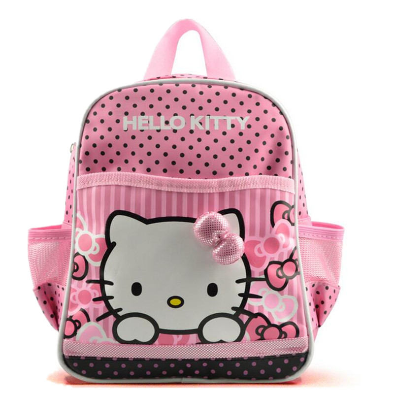 Hello Kitty Backpack for Infant Cartoon Cat Kindergarten Backpack for Girls  Boys Toddlers Kids Schoolbag Child 9461bf99654a2