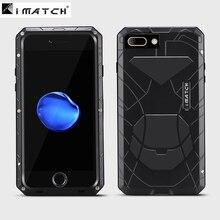 "New Slim Energy Armor Life Waterproof Shockproof design aviation Aluminum alloy metal case For Iphone 7 plus 5.5"" +Gorilla Glass"