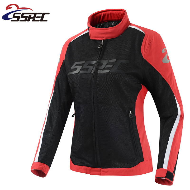 Women Motocross Jacket Spring Summer Motorcycle Jacket breathable Mesh Riding moto protective clothing with 5pcs protectors riding tribe men s motorcycle bikes slimming protective armor jackets motocross breathable cycling suits clothes with 6 pads